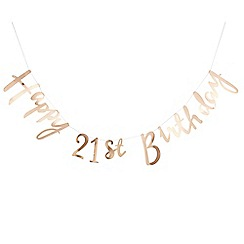 Ginger Ray - Bunting - Happy 21st Birthday - Gold