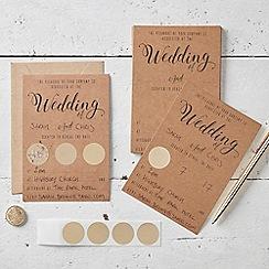 Ginger Ray - Invitation Wedding - Kraft