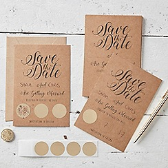 Ginger Ray - Save The Date Cards - Kraft