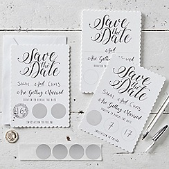 Ginger Ray - Save The Date Cards - White