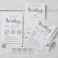 Ginger Ray - Invitation - Wedding White