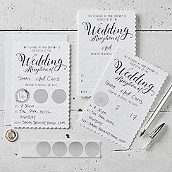 Ginger Ray - Invitation - Wedding - Evening White