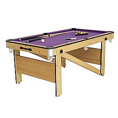 BCE - 6ft rolling lay flat pool table