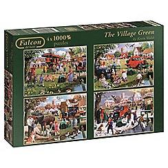 Jumbo - Falcon De Luxe Village Green 4 x 1000 piece Jigsaw Puzzle