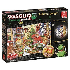 Wasgij - Christmas 13 Turkey's Delight! 2 x 1000 Piece Jigsaw Puzzle