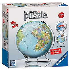 Ravensburger - The World on V-Stand Globe, 540pc 3D Jigsaw Puzzle