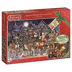 Jumbo - Falcon De Luxe Santa's Christmas Helpers 2 x 1000 piece Jigsaw Puzzle