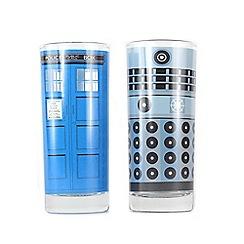 Doctor Who - Dalek & Tardis 300Ml Set Of 2 Glasses
