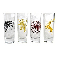 Game of Thrones - Sigils Set Of 4 100Ml Shot Glasses
