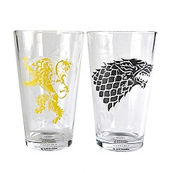 Game of Thrones - Stark & Lannister Set Of 2 450Ml Large Glasses