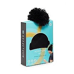 Amplified - Black bluetooth headphone pom-pom hat