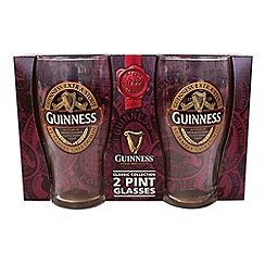 Guinness - Ruby red - 2 pint glass pack