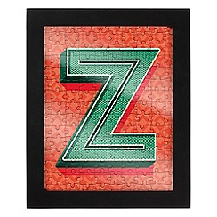 Wild & Wolf - Letter Z jigsaw & frame