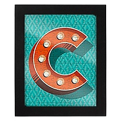 Wild & Wolf - Letter C jigsaw & frame