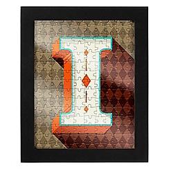Wild & Wolf - Letter I jigsaw & frame