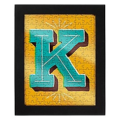 Wild & Wolf - Letter K jigsaw & frame