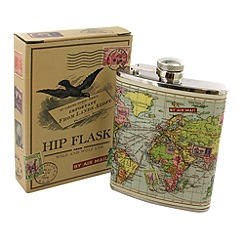 Wild & Wolf - Map Hip Flask