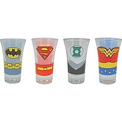DC Comics - Justice League set of 4 character shot glasses