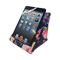 coz-e-reader - Navy floral cushion stand for e-readers