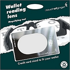 Touch of Ginger - Wallet reading magnifying lens