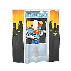 Superman - Telephone Box Shower Curtain