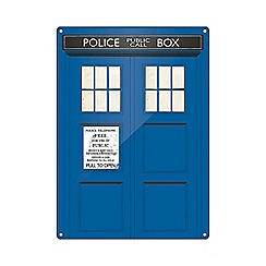 Doctor Who - Tardis A3 Tin Sign
