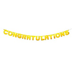 Talking Tables - Wedding foil gold congratulations banner
