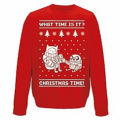 DC Comics - Adventure time red Christmas jumper
