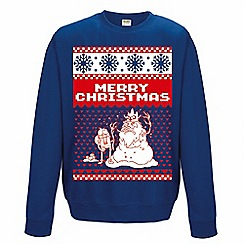 DC Comics - Adventure time blue Christmas jumper
