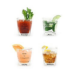 Kikkerland - Bartending glasses pack of 4