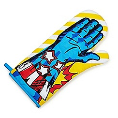 Debenhams - Superhero oven glove - stars and stripes