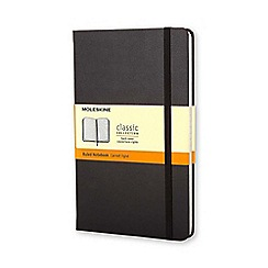 Debenhams - Moleskin large notebook - Black
