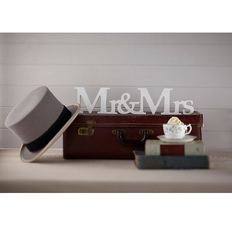 Ginger Ray - Vintage Affair - Mr & Mrs Wooden Sign