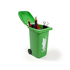 Debenhams - Wheelie Bin Desk Tidy Green