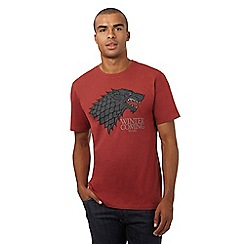 Game of Thrones - Red 'Stark' print t-shirt in a gift box