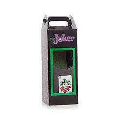 DC Comics - Grey 'Joker' mule slippers in a gift box