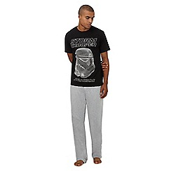 Star Wars - Black and grey 'Storm trooper' print pyjama set in a gift box