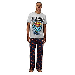 DC Comics - Grey 'Superman' print pyjama set in a gift box