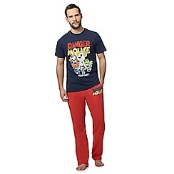 Justice League - Blue and red 'Danger Mouse' print pyjama set