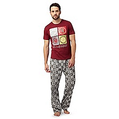 Game of Thrones - Dark red pyjama set in a gift box