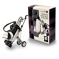 Colin Montgomerie Golf - Desktop golfbag & pen set