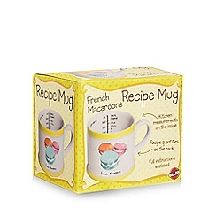 Debenhams - White macaroon recipe mug