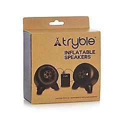 Debenhams - 'Tryble' black inflatable speakers