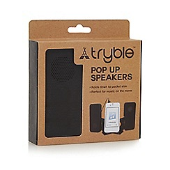 Debenhams - 'Tryble' black pop up speakers