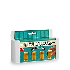Debenhams - Set of four pint shot glasses
