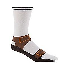 Debenhams - Silly Socks' white sandal print socks