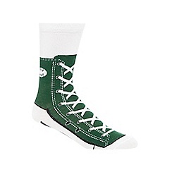 Debenhams - Silly Socks' green shoe print socks