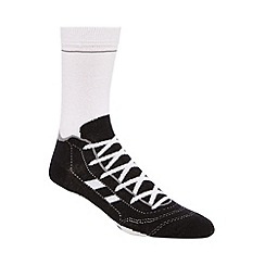 Debenhams - Silly Socks' black football boot print novelty socks