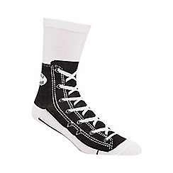 Debenhams - Silly Socks' black shoe print socks