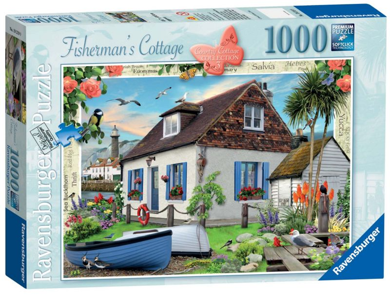 Ravensburger Country Cottage The Fisherman's Cottage 1000 piece Jigsaw Puzzle
